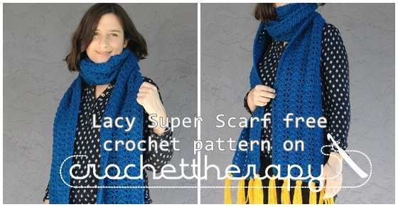 crochet super scarf