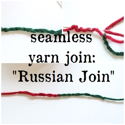 How to do easily do a seamless yarn join. How to do a Russian Join.