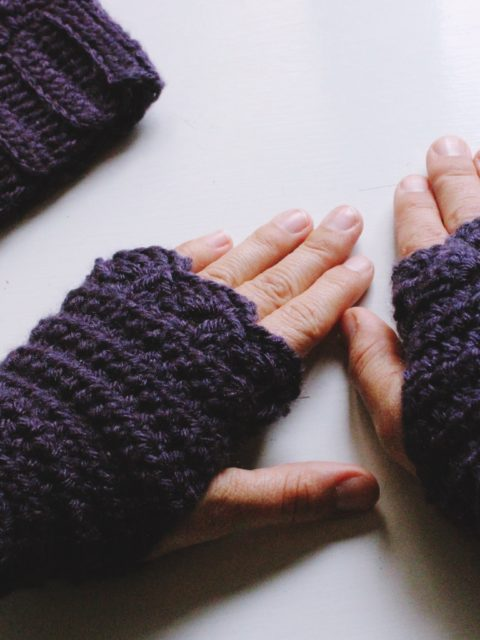 free crochet pattern fingerless mitts