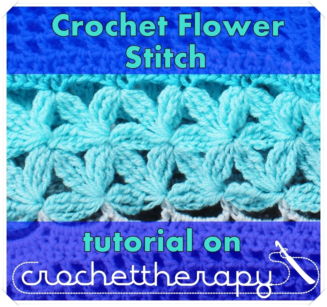 Crochet Flower Stitch tutorial, Petal or Daisy Stitch