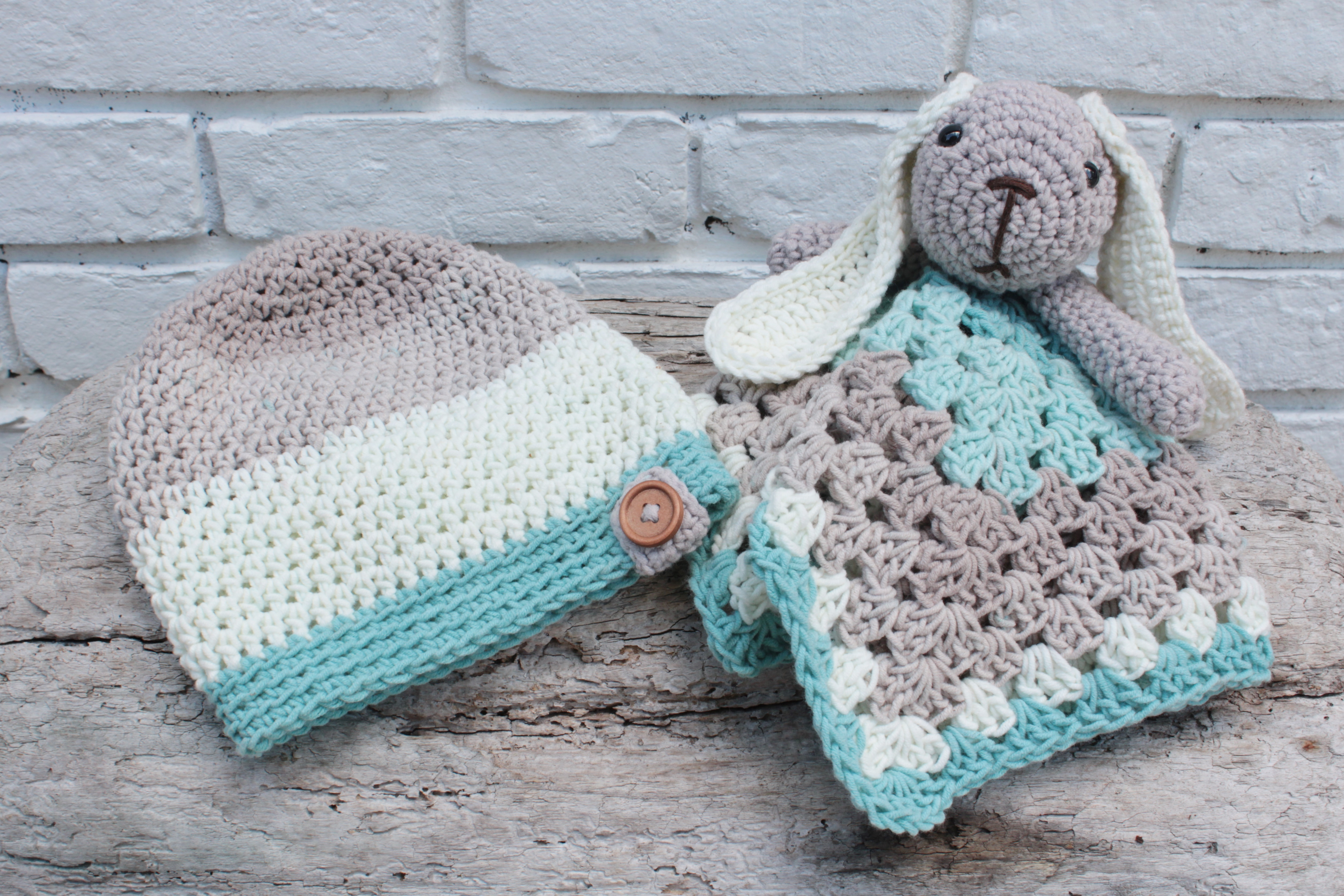 Crochet Slouch And Bunny Lovey Free Pattern For Babies
