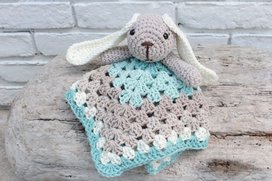 crochet slouch and bunny lovey