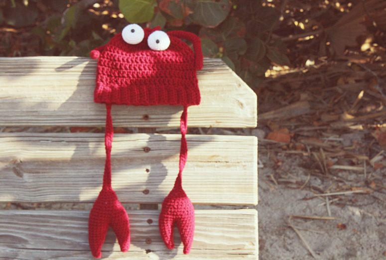 Free Crochet Lobster Hat Pattern Great For Halloween Or Photo Props