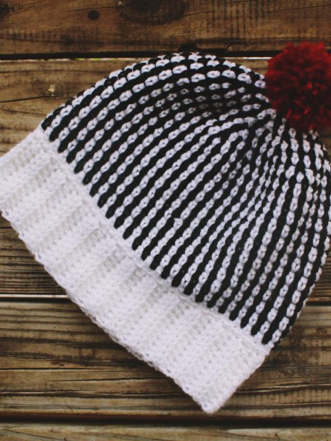 black and white crochet