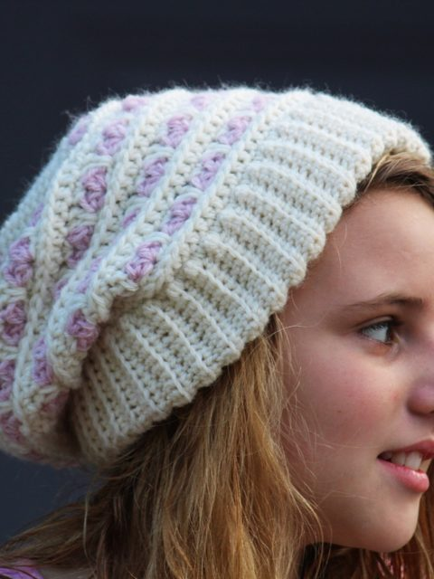 crochet hat for valentines day, free pattern