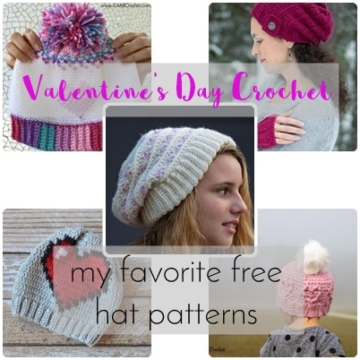 free crochet Valentine's day hat pattern